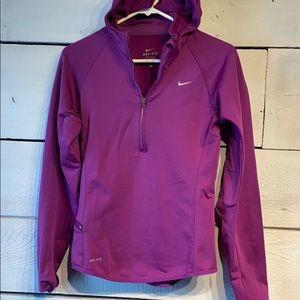 Nike dri fit  purple running hoodie small